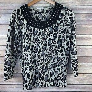 Halogen Leopard Cardigan, 1X